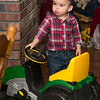 Jack with his new John Deere tractor