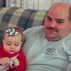 Baby Eva, and a very tired papa.