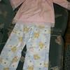 I made pajamas for Grace.