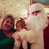 Angi, Lucie, and Santa