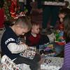 William opens his present.