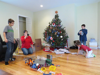 Santa moved the tree from the old living room to the new room.