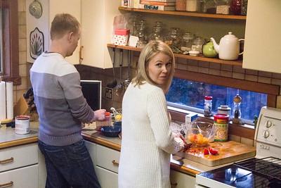 The Cooks Preparing Dinner