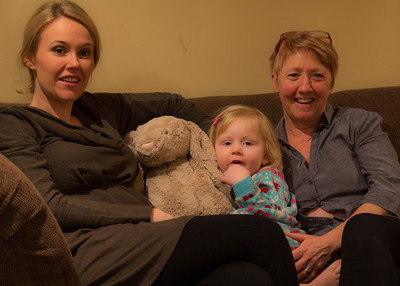 The Girls….and Grampa Bunny