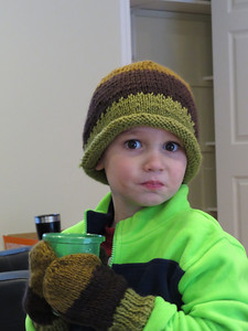 Miller's new hat and mittens