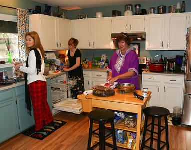 Christmas dinner prep