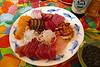 Christmas dinner sashimi