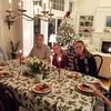Christmas with the Barkers in Hingham, MA. Sally, Bob, Steve, Suzy, Hemma and Sandy.