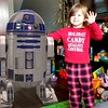 Maddy with R2D2.....