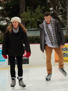 Christmas 2017 at the Griswolds included ice-skating at a rink in Paradise.  Here are Dawn and Blaine (home from the Marines) taking a turn.