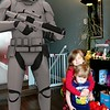 Maddy & Emily with a storm trooper.....