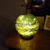 Marilyn's lamp received for Christmas - she calls the 'Brain' - from Robert Held's glass gallery in Parksville (used to be on Granville Island).....