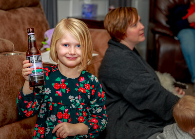 Peyton enjoying her Christmas Ale