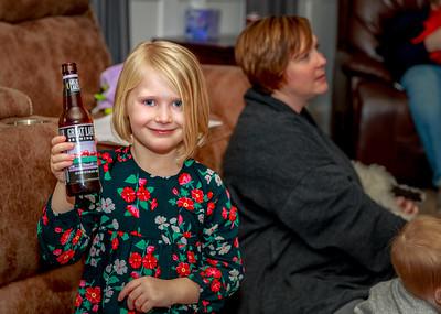 Peyton enjoying her Christmas Ale