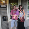 Justin, Leah, and Sarah on day of move to new home in Evanston