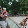 Grandpa with Leah at Evansville Zoo