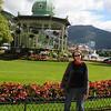 Carol at Byparken in Bergen Norway