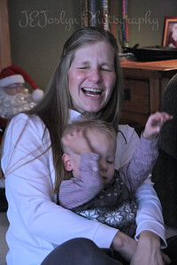 Christmas fun at Matt's.  12-25-2012  And, Katie just got a fist in the face, from GS-2