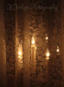 Grandma Hat's decorations, wow, three lights in a window. 2012