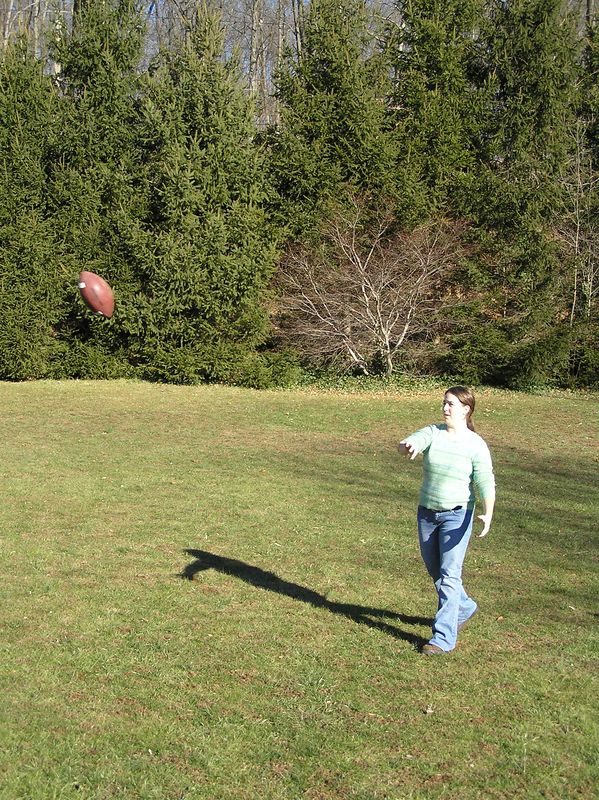 Lauren playing football