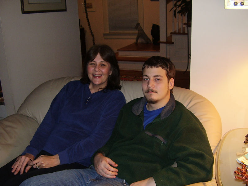 Jackie's niece, Julie Booth and her son, Jason.