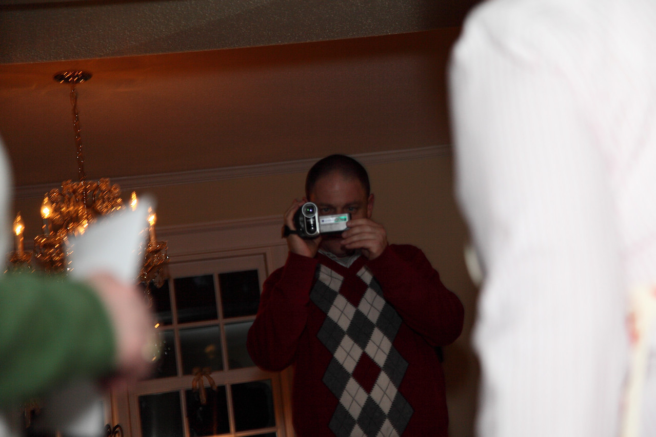 Ethan getting the video of Christmas Eve.