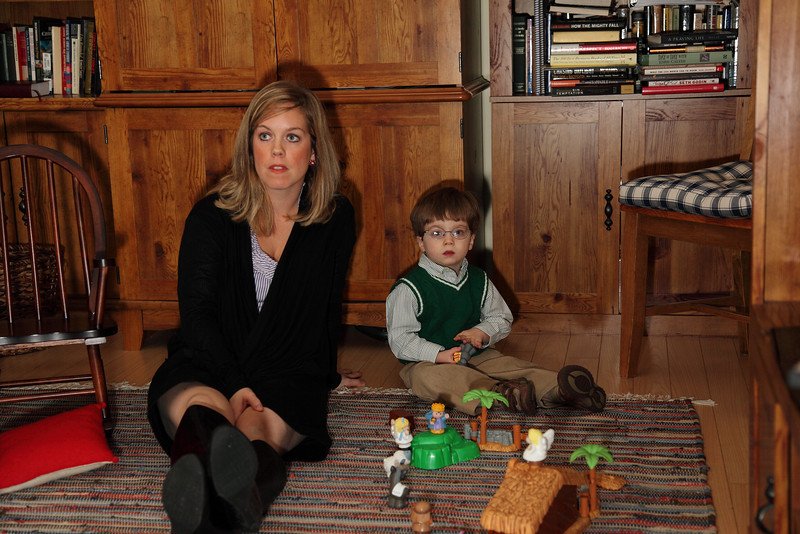 Laurie with Liam.