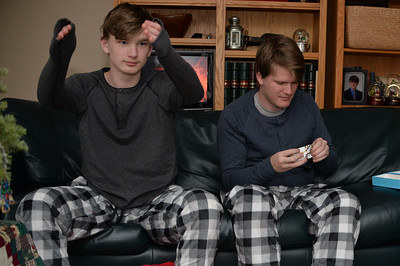 Matching boys.  Matching shirts.  Matching jammie pants.