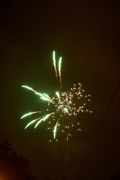 The next dozen photos are part of over 100 I took of the fireworks going on literally in the streets around our house.  We arranged this to celebrate Gammie's birthday... OK, OK, it is a typical Guatemalan Christmas celebration.  WOW do they use a lot of gunpowder and make a lot of noise.