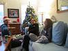 Santa Cooper distributes gifts on xmas morning.