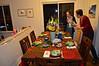 Christmas Eve table prepared.