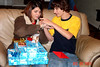 Kristen and Chase, Kristen is tring on her new bracelet we got her for Christmas.