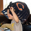 Tyler and his new football helmet!
