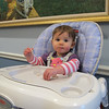 Charlotte supervised the process from her high chair.
