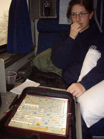 We played about 900 games of Scrabble.