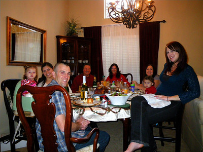Christmas in California: Family Dinner in Corona December 24, 2009