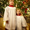 M&E sing in the children's choir.  Here they just finished their part of the Christmas Eve service.