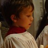 Michael looking at his Christingle