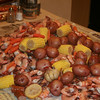 Great food.  Shrimp, sausage, potatoes, corn, carrots, and garlic, with spicy seasoning too.
