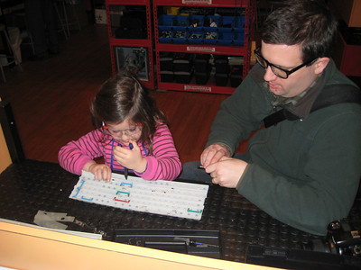 Papa and Catherine Dissect a Keyboard