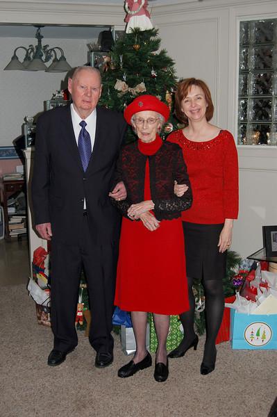 Clem, Sally & Karyn on Christmas Eve 2008