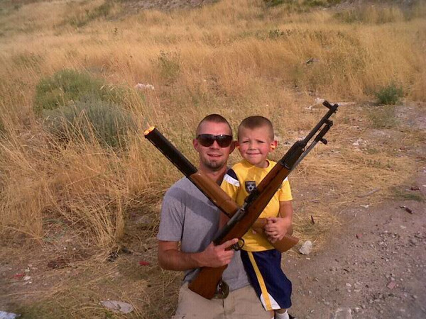 Ryan and Tarek with guns