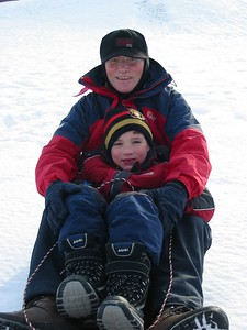 Sledging at the park