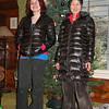 Mirranda & Chiyoko sporting their new coats from Chiyokos Mum