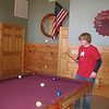 Seth playing pool