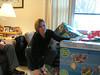 Sharon with new stroller/bike trailer