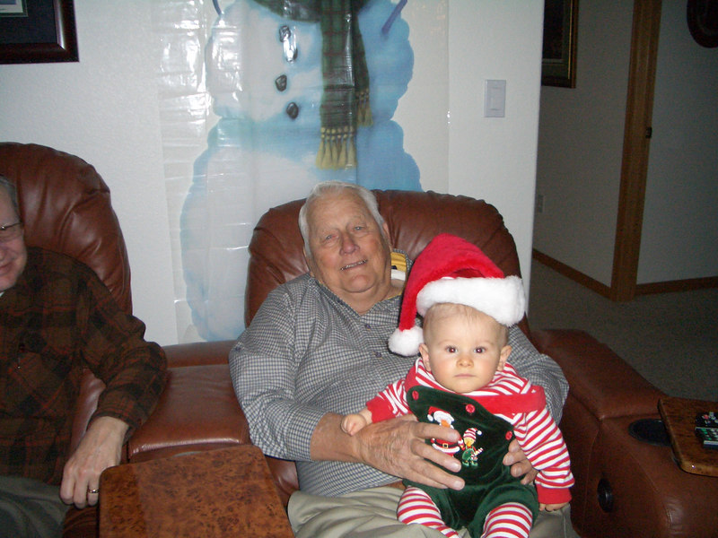 Great grandpa Howard and Cody 12/16