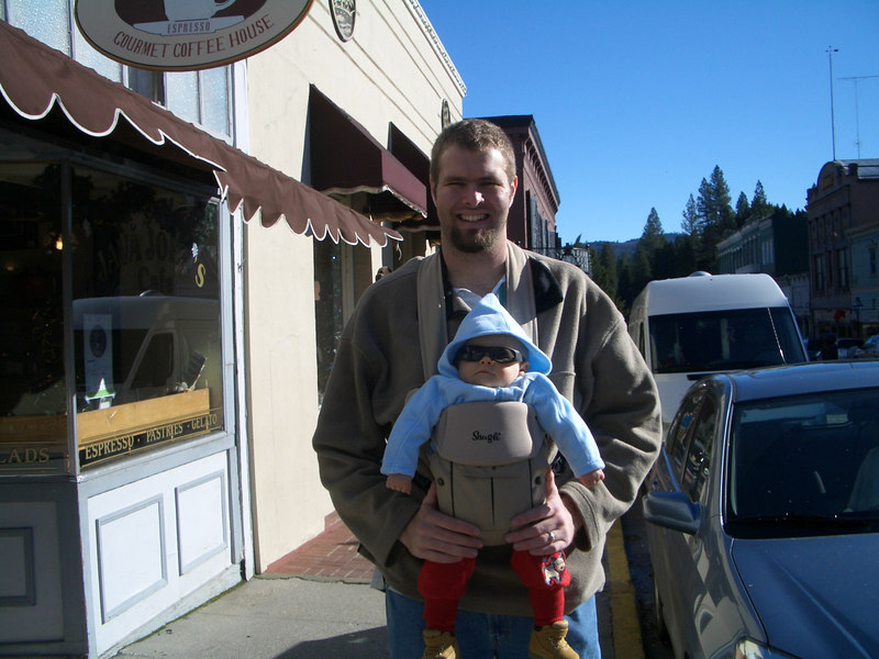 Daddy and Cody styling in Nevada City. 12/28
