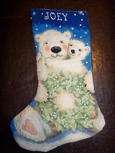 Christmas stocking I made for Joey