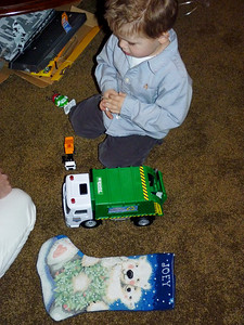 Joey and his new garbage truck